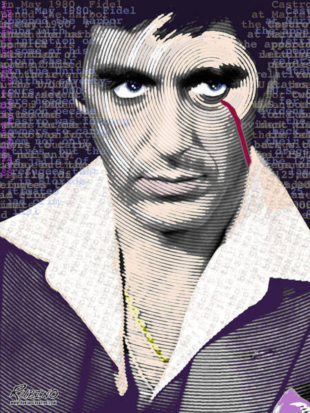 Painting - Al Pacino Scarface by Tony Rubino