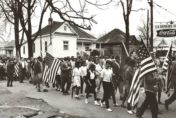 Alabama Photograph - Alabama Civil Rights March by Peter Pettus