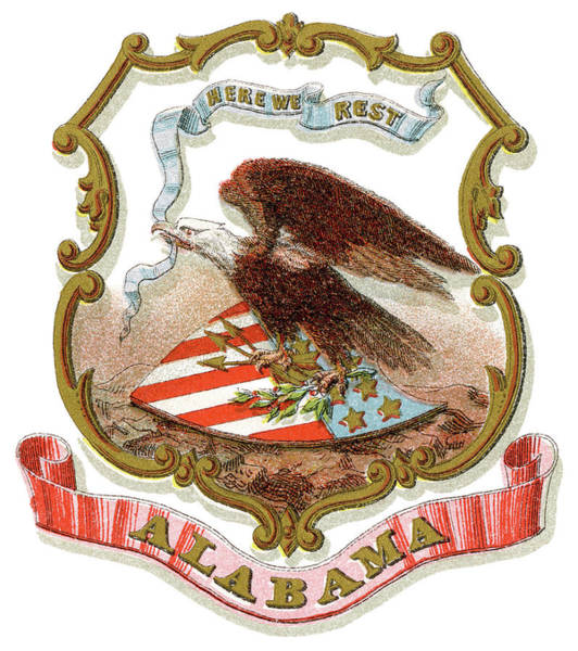 State Of Alabama Painting - Alabama Coat Of Arms by Granger