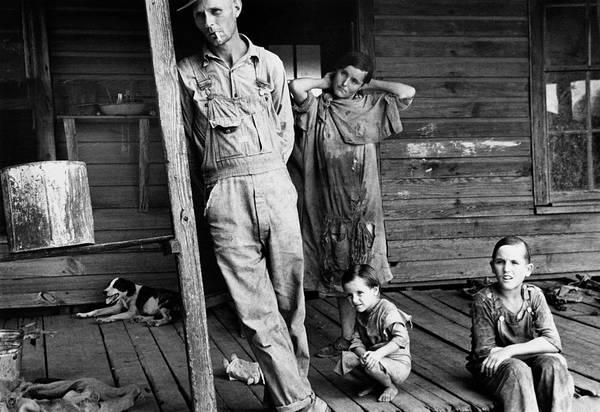 Dog Walker Photograph - Alabama Family, 1936 by Granger