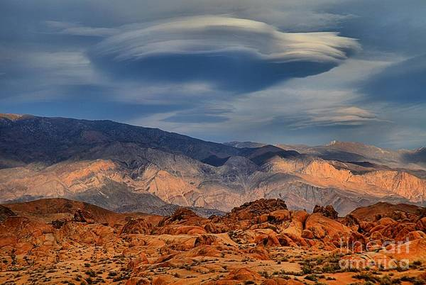 Photograph - Alabama Hills Lenticular Clouds by Adam Jewell