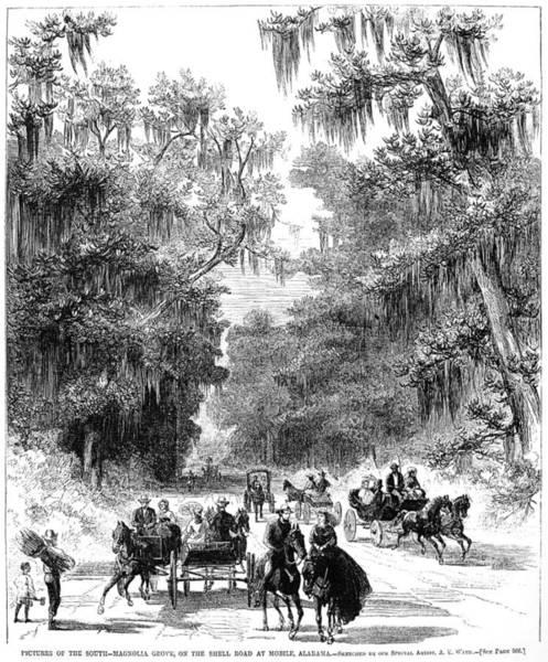 South Alabama Painting - Alabama Mobile, 1866 by Granger
