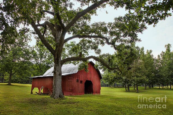 Lowry Photograph - Alabama Red Barn  by T Lowry Wilson
