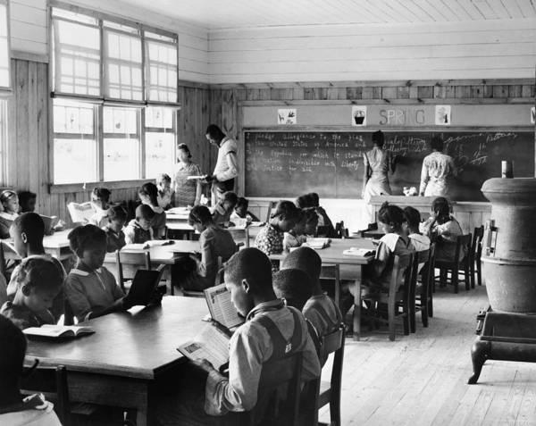 Photograph - Alabama Schoolhouse, 1939 by Granger
