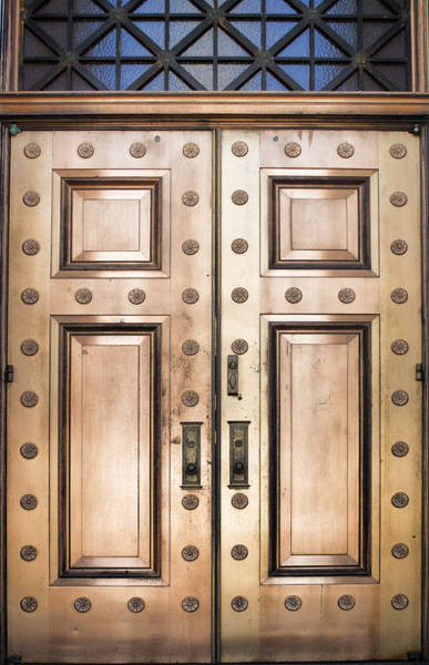 Photograph - Alabama State Capital Building Door_1 by Lesa Fine