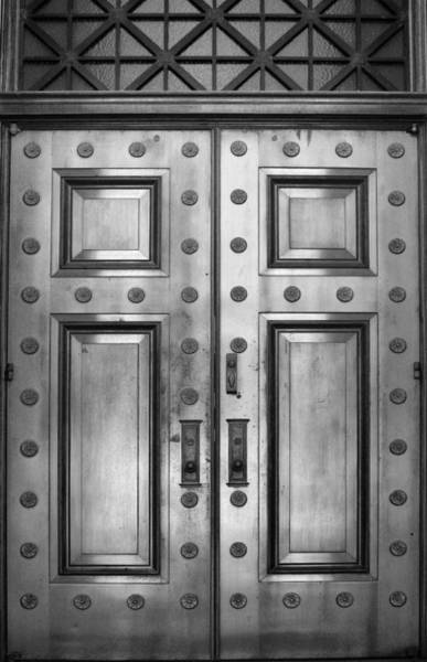 Photograph - Alabama State Capital Building Door_1_bw by Lesa Fine