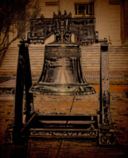 Photograph - Liberty Bell Art Alabama State Capital Building  by Lesa Fine
