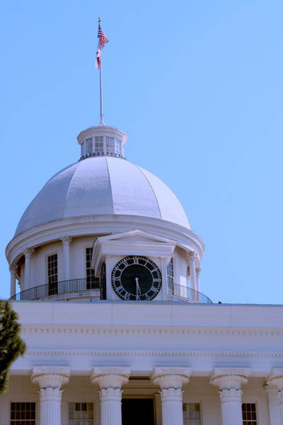 Photograph - Alabama State Capital Building_clock by Lesa Fine