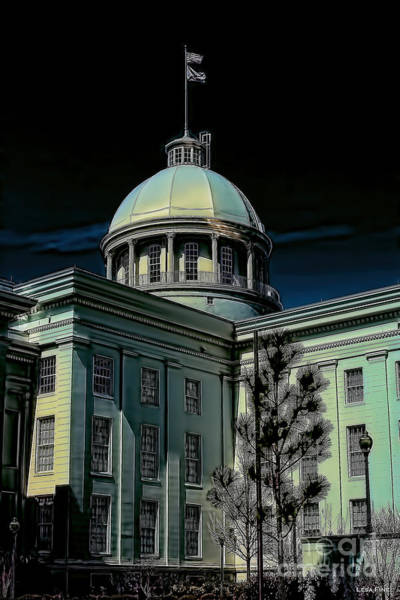 Photograph - Alabama State Capital Building_hdr Art 1 by Lesa Fine
