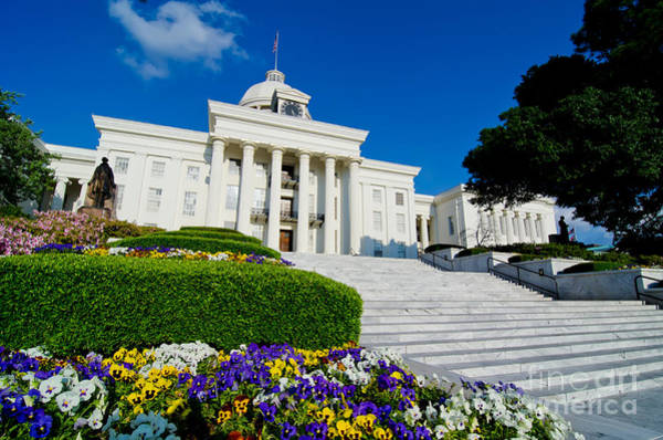 Photograph - Alabama State Capitol Building by Danny Hooks