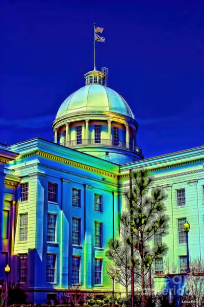 Photograph - Alabama State Capitol Building Side View by Lesa Fine