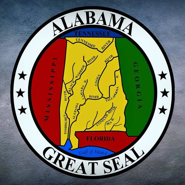 Digital Art - Alabama State Seal by Movie Poster Prints