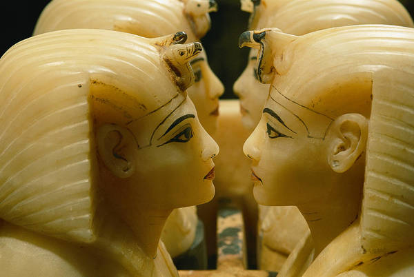 Alabaster Photograph - Alabaster Carvings Found In The Tomb by Kenneth Garrett