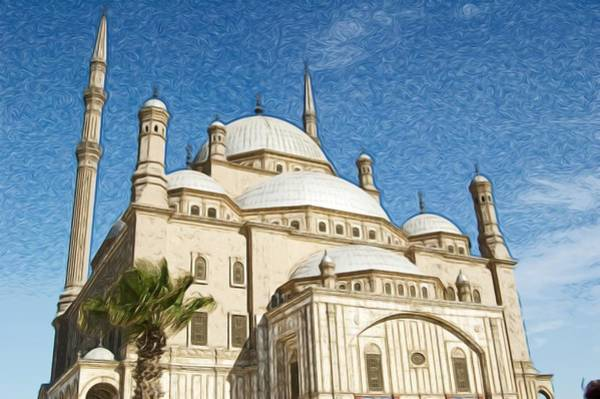 Alabaster Photograph - Alabaster Mosque In Cairo by Galexa Ch