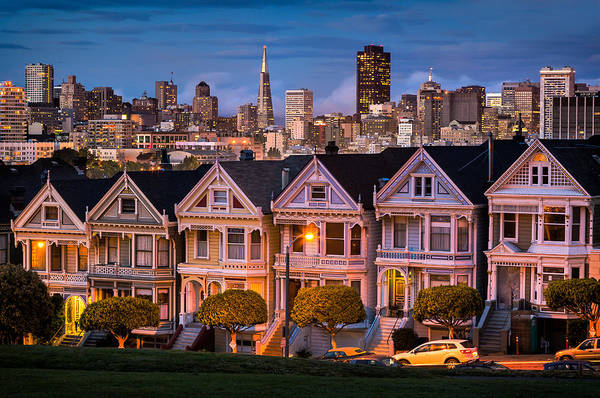 Photograph - Alamo Square - Painted Ladies by Alexis Birkill