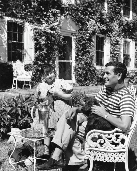 Outdoor Furniture Photograph - Alan Campbell And Dorothy Parker by Jacob Lofman