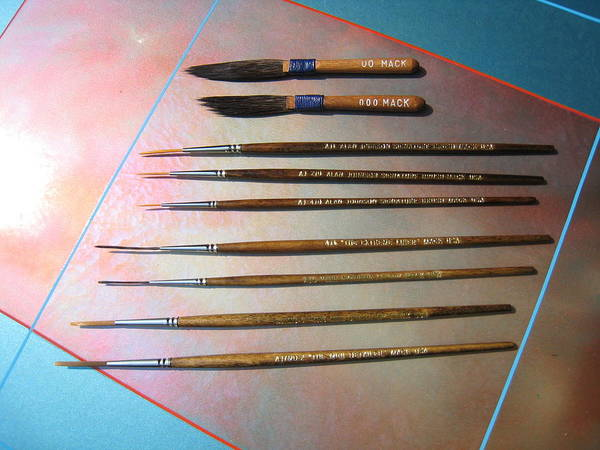 Painting - Alan Johnson Signature Brushes  by Alan Johnson