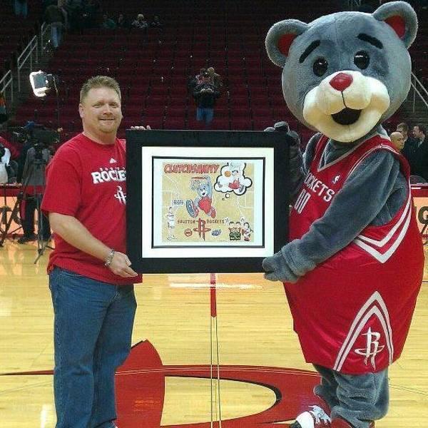 Houston Rockets Drawing - Alan Premel Rockets by Alan  Premel