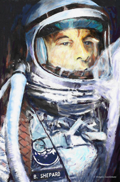 Digital Art - Alan Shepard by Douglas Castleman