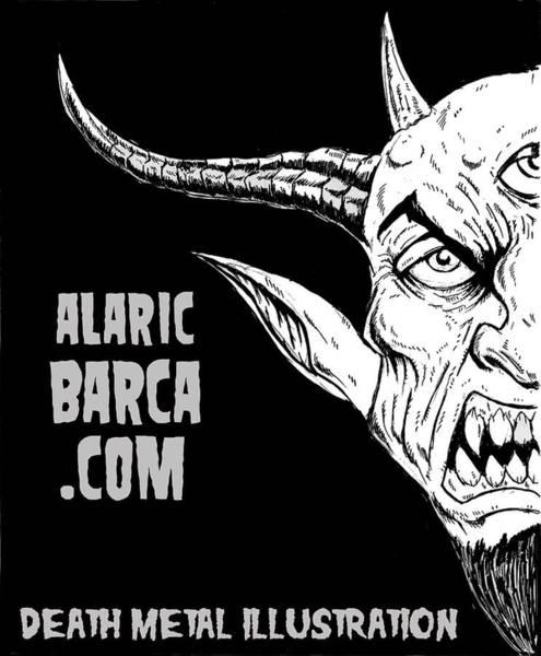 Demonic Drawing - Alaricbarca.com by Alaric Barca