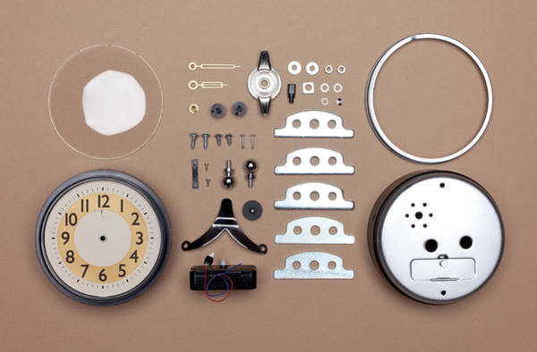 Break Up Photograph - Alarm Clock Broken Down Into Individual by William Andrew