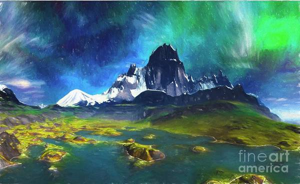 Wall Art - Digital Art - Alaska Aurora Borealis Northern Lights 07 by Heinz G Mielke