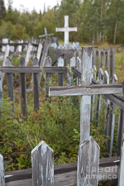 Photograph - Alaska Cemetery by Jim West
