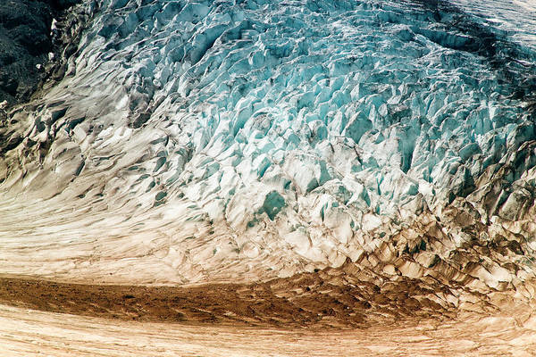 Crevice Photograph - Alaska Close-up Of A Glacier (large by Janet Muir