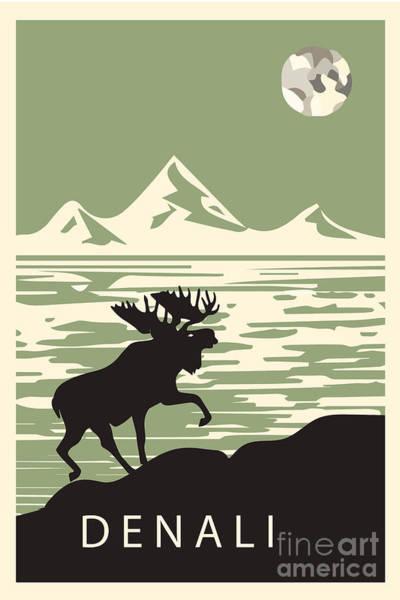 Wall Art - Digital Art - Alaska Denali National Park Poster by Celestial Images