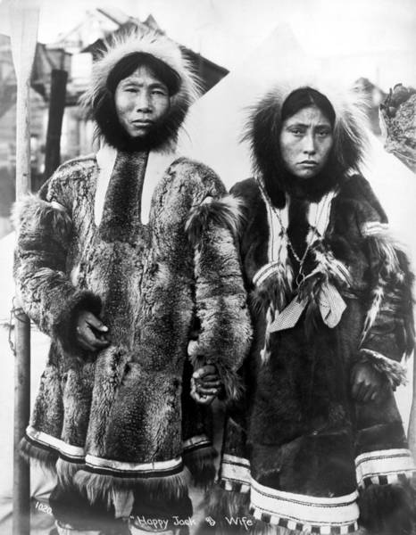 Photograph - Alaska Eskimo Couple by Granger