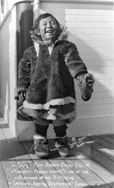 Photograph - Alaska Eskimo Girl by Granger