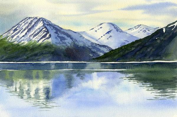 South Pacific Painting - Alaska Mountain Reflections by Sharon Freeman