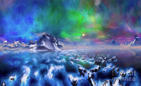 Wall Art - Digital Art - Alaska Northern Lights  by Heinz G Mielke