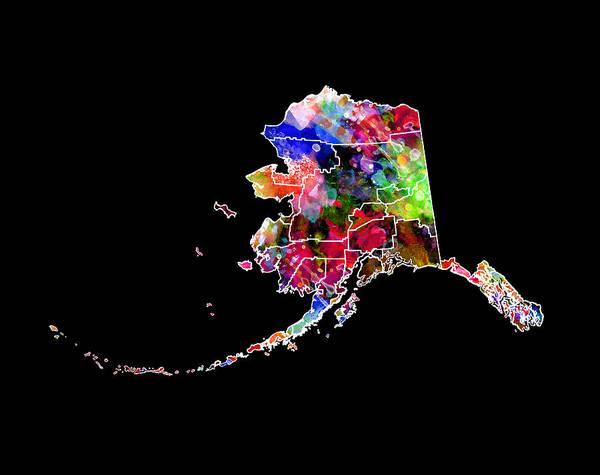 Big Island Digital Art - Alaska State 2 by Daniel Hagerman