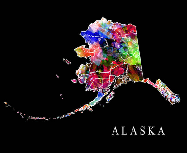 Big Island Digital Art - Alaska State by Daniel Hagerman