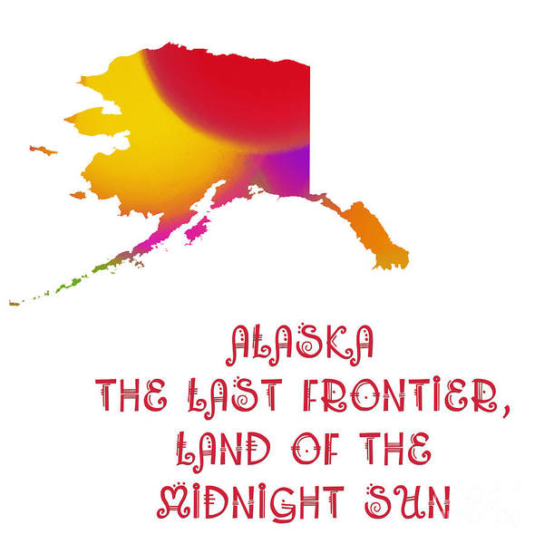 Digital Art - Alaska State Map Collection 2 by Andee Design
