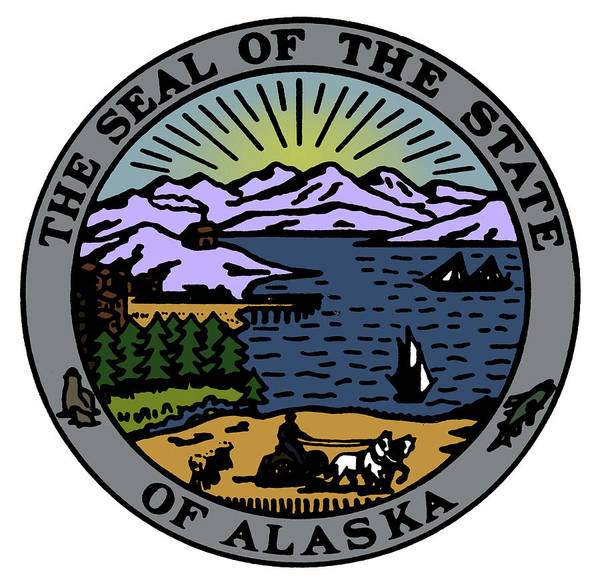 Drawing - Alaska State Seal by Granger