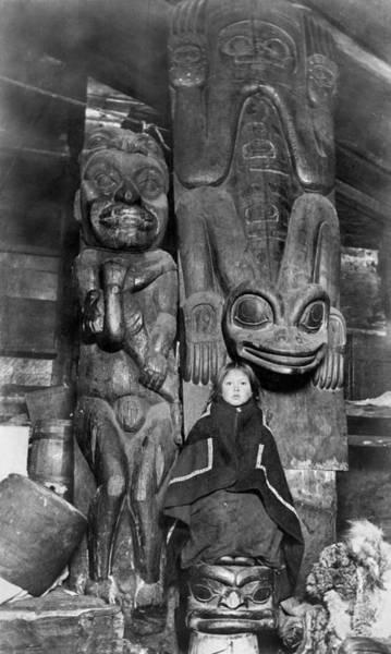 Photograph - Alaska Totem Poles, C1895 by Granger