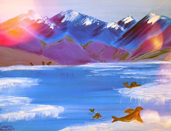 Painting - Alaskan Seal by Denise Tomasura