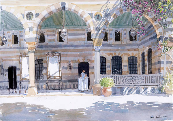 Archway Painting - Alazem Palace by Lucy Willis