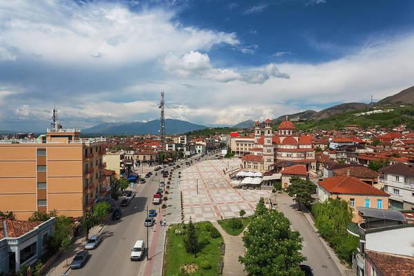 Boulevard Photograph - Albania, Korca by Walter Bibikow