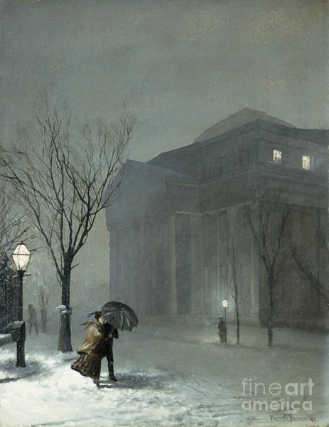 Nocturnal Wall Art - Painting - Albany In The Snow by Walter Launt Palmer