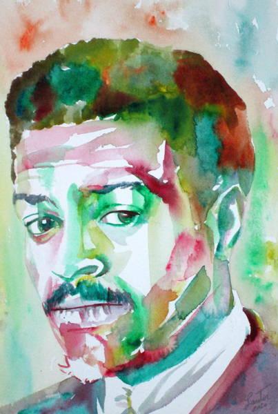Sax Painting - Albert Ayler - Watercolor Portrait by Fabrizio Cassetta
