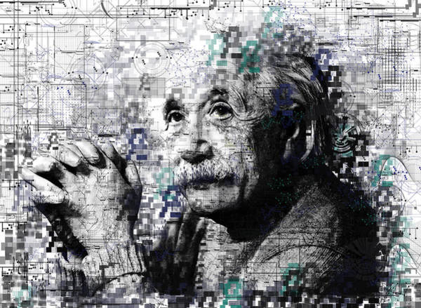 Einstein Wall Art - Painting - Albert Einstein 2 by Bekim Art