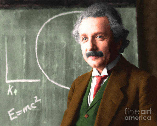Photograph - Albert Einstein 20140910 Horizontal by Wingsdomain Art and Photography