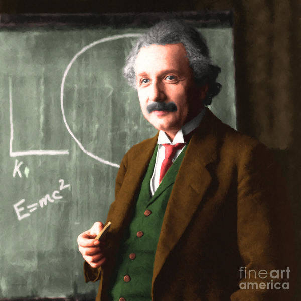 Photograph - Albert Einstein 20140910 Square by Wingsdomain Art and Photography