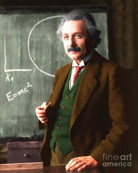 Photograph - Albert Einstein 20140910 by Wingsdomain Art and Photography