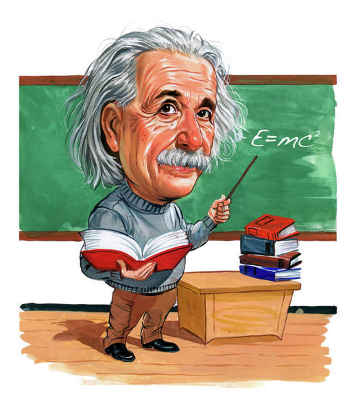 Einstein Wall Art - Painting - Albert Einstein by Art