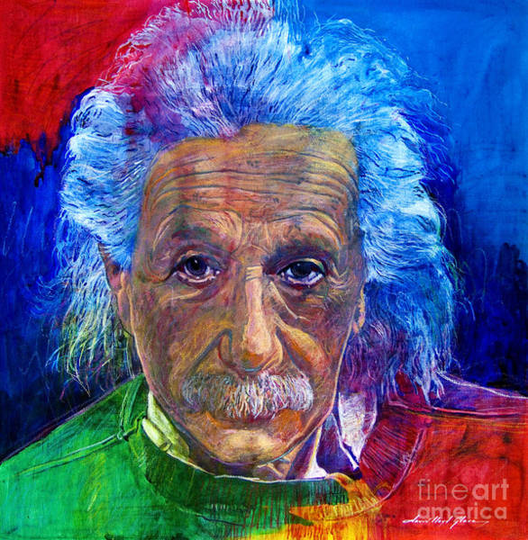 Wall Art - Painting - Albert Einstein by David Lloyd Glover