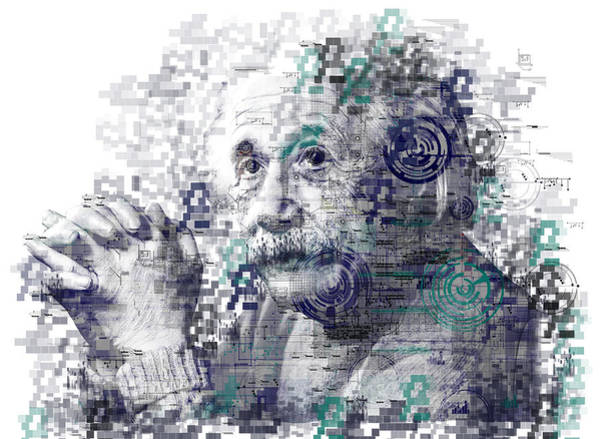 Einstein Wall Art - Painting - Albert Einstein by Bekim Art